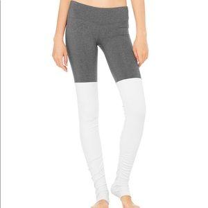 ALO Yoga Goddess Leggings Gray White M